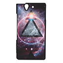 Round and Triangle Pattern Shimmering Powder Hard Case for SONY L36H(Xperia Z)