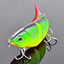 Trulinoya-Hard Mini Bait Four-section Minnow 80mm/10g Slow Sinking Fishing Lure (Random Color)