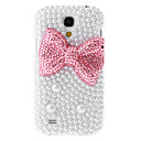 Red Bowknot Painting Pattern Rhinestone Protective Pouches for Samsung Galaxy S4 Mini I9190