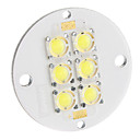 6W 200LM 6500K Cool White LED Plate (11-12V)