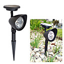 1 pc White Light Solar Lawn Light Solar Spot Light 3 Bright LED Bulbs for Garden (CIS-57140)