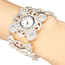 Women's Little Round Dial Hollow Engraving Band Quartz Analog Bracelet Watch (Assorted Colors)