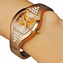 Women's Square Dial Diamante Brown Alloy Band Quartz Analog Bracelet Watch