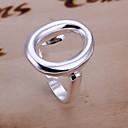(1 шт) сладостных Женская Silver медное кольцо (размер регулируется)