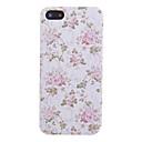 Розовый цветок и лист шаблон PU кожаный чехол для всего тела для iPhone 5 / 5S