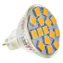 G4 GU4 MR11 4.5W 15x5050SMD 250-280LM 2800-3200K теплый белый свет Светодиодные пятно лампы (9-36V)
