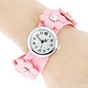 Женская Цветочный стиль PU Группа Кварцевые аналоговые часы браслет (разных цветов)