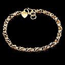 Мода Пирсинг 22см Женские золотые Позолоченные Шарм браслет (1 шт)