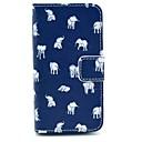 Различной формы Слоны PU кожаный чехол для всего тела для iPhone 4 / 4S