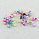 Z&X®  DIY Beads Material Colored Flawed Beads 8MMX8MM 100 PCS(Random Color, Pattern)