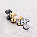 Lureme®316L Surgical Titanium Steel Bear Single  Stud Earrings (Random Color)