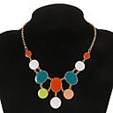 Мода Multicolor круглой формы Кулон Ожерелье (1 шт)