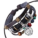 New Leather Beaded Bracelet