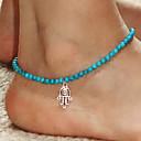 Shixin® Fashion Blue Resin Elastic Anklet(1 Pc)