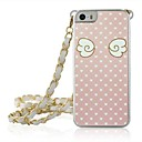 Pink Wings Leather Vein Pattern PC Plastic Hard Case with Chain for iPhone 5/5S