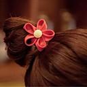 Zipper Flowers Gold Buckle Elastic Hair Ties