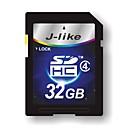 J-Like 32GB Class 4 SD/SDHC/SDXCMax Read Speed4 (MB/S)Max Write Speed4 (MB/S)