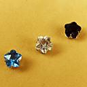Unisex's Wintersweet Flower Magnet Cilp Earrings
