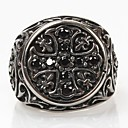 Z&X®  Men's Fashion And Personality Cross Titanium Steel Ring