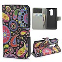 Colorful Painting Pattern PU Leather Wallet Case with Stand and Card Slot for LG G2 MINI