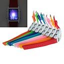 YuanBoTong Женская двойной дисплей Spuare Силикагель Группа моды часы с светодиодной подсветкой