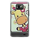 Розовый Жираф кожи вены Pattern Жесткий чехол для Samsung Galaxy S2 I9100