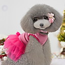 Bowknot Bling Пряжка Pink Тюль Кружево Платье для домашних собак различных размеров