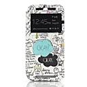 ОК Pattern Письмо бумаги одного окна Раскладушка PU кожаный чехол для всего тела для HTC One M8