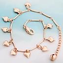 Heart-Shaped Кулоны Сплав Hand Made ножной браслет розового золота (1шт)