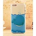 Мультфильм Blue Whale Стиль Пластиковые Жесткий Назад Чехол для iPhone 6 Plus