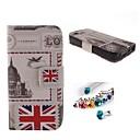 Британский флаг PU Полный чехол тело с пыле Разъем с гнездом для карты и ПОВ по iPhone 4 / 4S