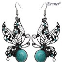 Eruner®Vintage Butterfly Grreen Turquoise Earrings
