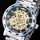 Men's Auto-Mechanical Luxury Steel Skeleton Wrist Watch  9