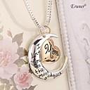 Eruner Я люблю тебя мама Серебро Золото гравированные Письмо Ожерелья Подвески себе Колье Ожерелье ювелирные изделия
