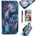Волк Семья и Ловец снов шаблон PU кожаный чехол с защитой экрана и стилус для Samsung Galaxy Mini S5