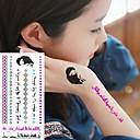 1Pc Водонепроницаемый Арабский Нумерация Серебряный Синий флуоресценции серии Маске Девушка Pattern татуировки наклейки для боди-арта
