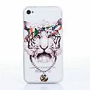 Тигр шаблон ТПУ Мягкий чехол для iPhone 4 / 4S