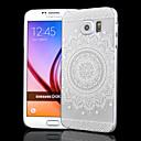 Прозрачный Рельефные ремесла Полые Подсолнечник Печать ПК Скраб Материал Телефон чехол для Samsung Galaxy S6