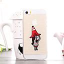 Мультфильм Red Hat Девушка шаблон ТПУ Мягкий чехол для iPhone 5 / 5S