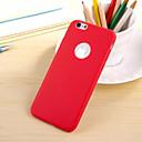 Топ Продажа сплошной цвет ТПУ Назад Чехол с логотипом для iPhone Hole 6 Plus (разных цветов)