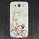 Drill and Bike Eiffel Tower Pattern PC Back Cover Case for Samsung Galaxy Mega I9152