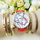 Дамы Цветочные часы, цветочный узор, женские часы, Аналоговые, цветка сливы цветок Студенты наручные часы