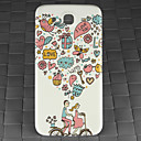 Drill and Couple Cycling Pattern PC Back Cover Case for Samsung Galaxy Mega I9152