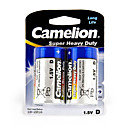 Camelion Супер Heavy Duty батареи первичных Размер D (2шт)
