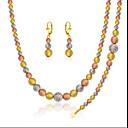 Hochzeit / Party / Alltag / Normal-Halsketten / Ohrringe / Armband(versilbert / vergoldet / Rose Gold überzogen)