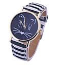 2016 new Fashion Women Casual Watch Little Cat Pattern wristwatch for Girl Students Quartz cartoon watch clock hours