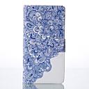 azul y caja del teléfono de la PU pintado blanco para Huawei P9 / p9lite