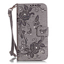 Diamonds Butterfly Flower Color Double-sided Embossed Card Holder Lanyard PU Leather Phone Case for Huawei P9lite/Y625