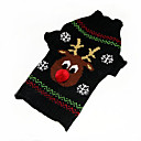 Dog Sweater Green Dog Clothes Winter Cartoon Christmas