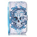Skull  Painted PU Leather Material of the Card Holder Phone Case for iPhone 7 7plus 6S 6plus SE 5S